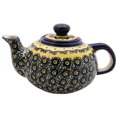 Euroquest Imports Polish Pottery 14 oz Teapot - Pattern DU1