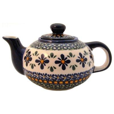 Euroquest Imports Polish Pottery 14 oz Teapot - Pattern DU60