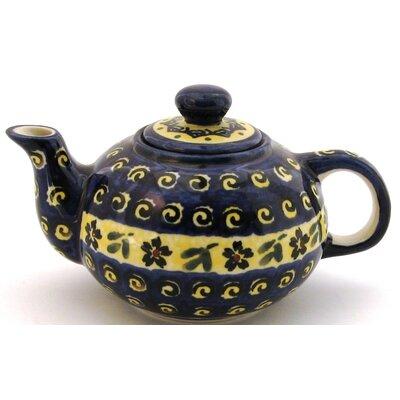 Euroquest Imports Polish Pottery 14 oz Teapot - Pattern 175A