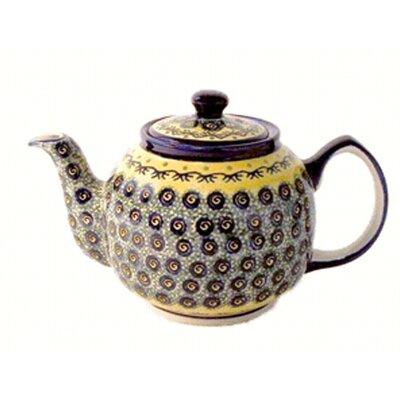 Euroquest Imports Polish Pottery 37 oz Teapot - Pattern DU1