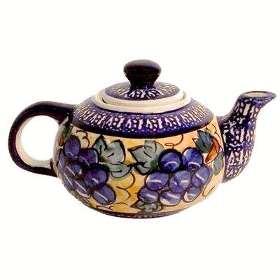 Euroquest Imports Polish Pottery 14 oz Teapot - Pattern DU8