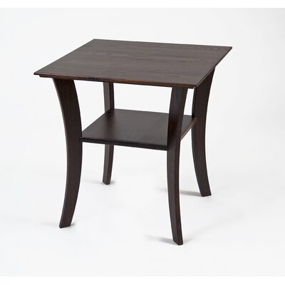 Cheap Manchester Wood Contemporary Square End Table in Chestnut (MWO1012)