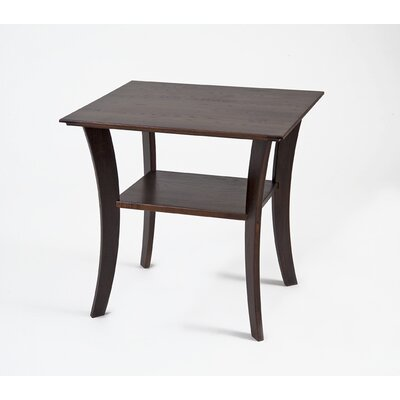 Cheap Manchester Wood Contemporary Rectangular End Table in Chestnut (MWO1014)
