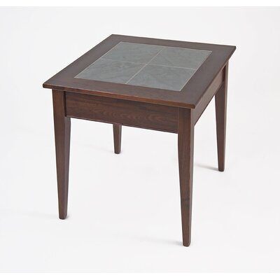 Cheap Manchester Wood Slate Top End Table in Chestnut (MWO1033)