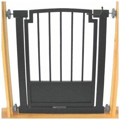 Royal Weave Dog Gate Size: Small (32 tall x 28-34 wide), Finish: Black