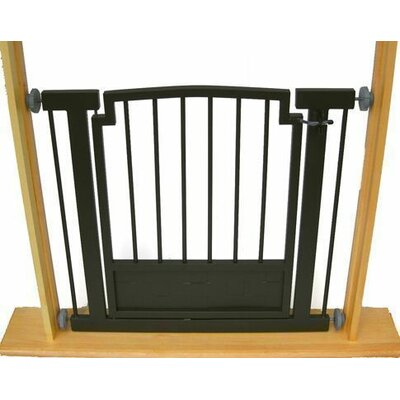 Royal Weave Dog Gate Size: Large (32 tall x 34-40 wide), Finish: Black
