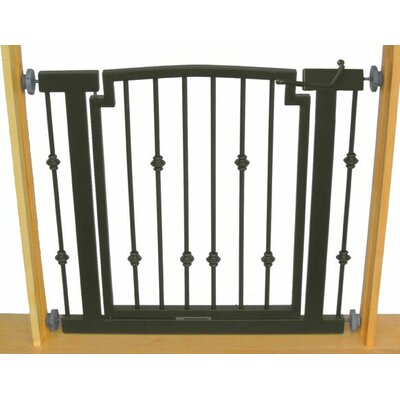 Hansel Emperor Rings Pet Gate Size: Large (32 H x 40 W x 1 D), Finish: Black