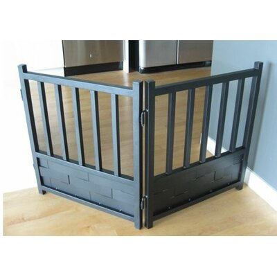 Royal Weave Free Standing Dog Gate Finish: Mocha