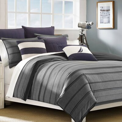 Sebec Reversible Comforter Set Size: King
