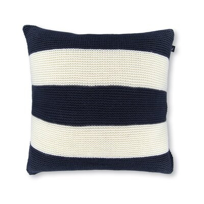 18 Crew Striped Knit Decorative Throw Pillow Color: Navy/White