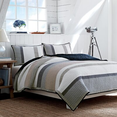 Tideway Cotton Reversible Quilt Size: King