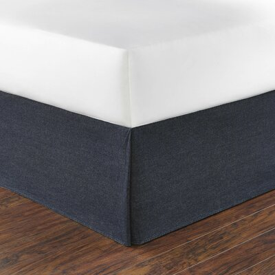 Seaward Denim Bed Skirt Size: Queen