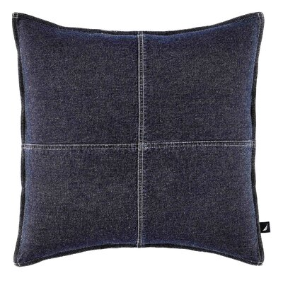 Seaward Cotton Denim Throw Pillow