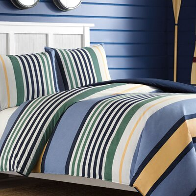 Dover Reversible Duvet Cover Set Size: Twin