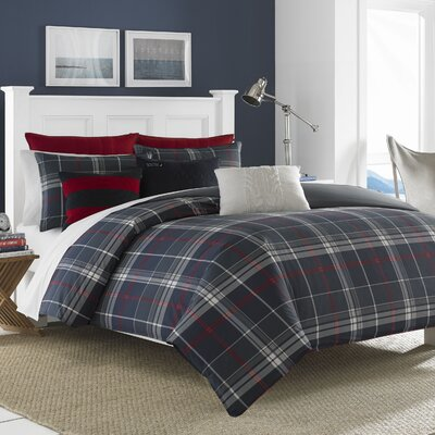 Booker Reversible Duvet Cover Set Size: King