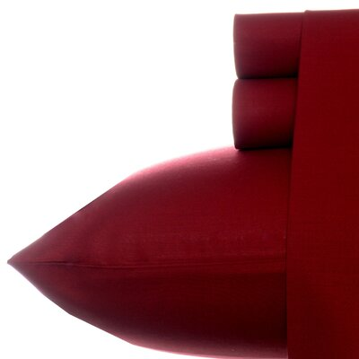 200 Thread Count Cotton Percale Sheet Set Size: Twin, Color: Biking red