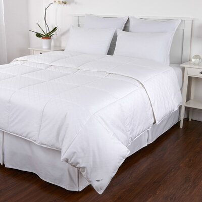 Cotton Jacquard Down Comforter Size: King