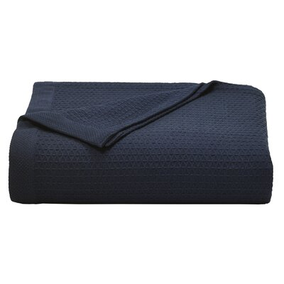 Baird Cotton Blanket Size: King, Color: Navy