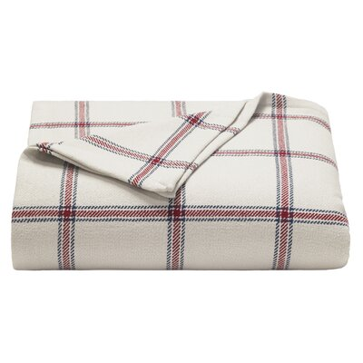 Halstead Twill 100% Cotton Blanket Size: Twin, Color: Red