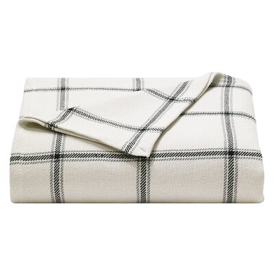 Halstead Twill 100% Cotton Blanket Size: Twin, Color: Navy