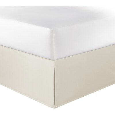 Solid Bedskirt 100% Cotton Fitted Bed Skirt Size: Queen, Color: Ivory