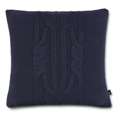 Bartlett Cotton Throw Pillow Color: Navy