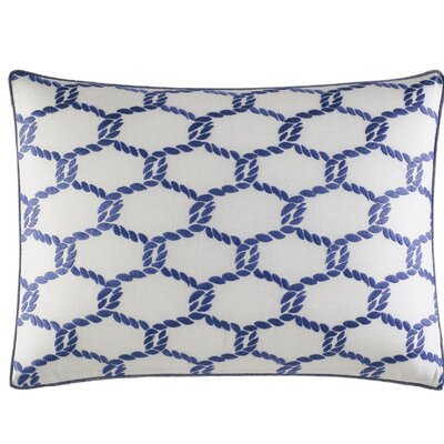Cunningham Embroidered 100% Cotton Lumbar Pillow