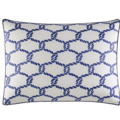 Cunningham Embroidered 100% Cotton Lumbar Pillow