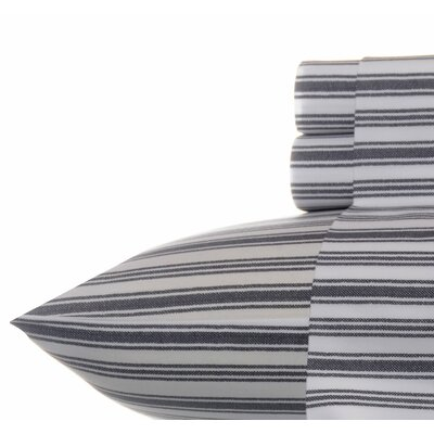 Coleridge Stripe Sheet Set Color: Charcoal