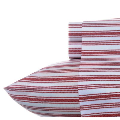 Coleridge Stripe Sheet Set Color: Red