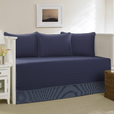 Maywood Cotton Daybed Set Color: Navy