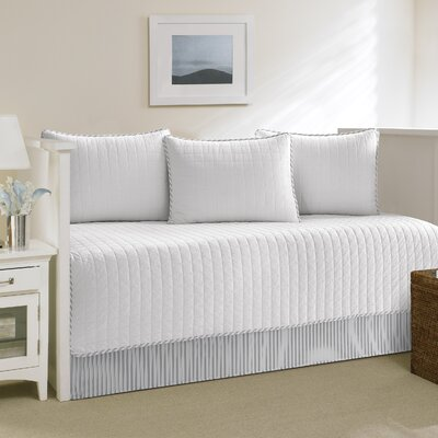 Maywood Cotton Daybed Set Color: White