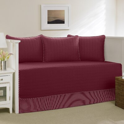 Maywood Cotton Daybed Set Color: Red