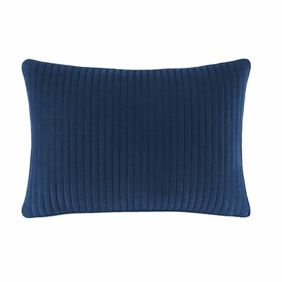 Cape Coral Pick Stitch Cotton Lumbar Pillow
