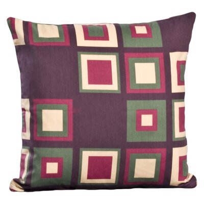 Gridlock Throw Pillow Size: 16