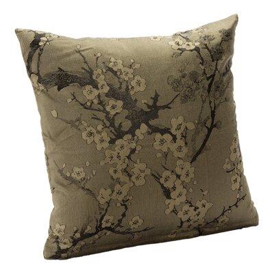 Cherry Blossom Throw Pillow Size: 16, Color: Haze