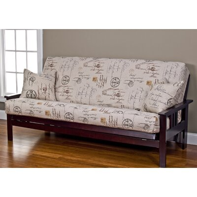Devonshire Box Cushion Futon Slipcover Size: 6 in. Full