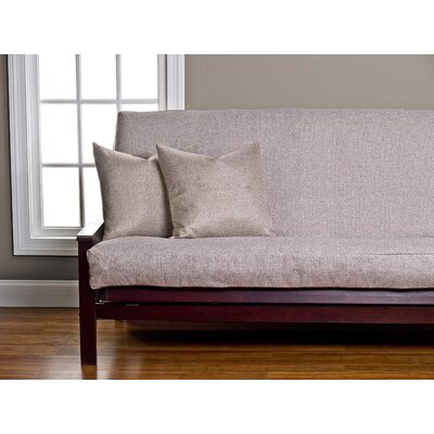 Applecrest Box Cushion Futon Slipcover Size: 6 in. Full, Upholstery: Ginger