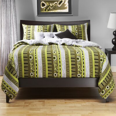 Arent 5 Piece Duvet Cover Set Size: Queen
