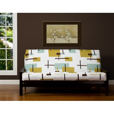 White Zipper Futon Slipcover Size: 6 in. Full