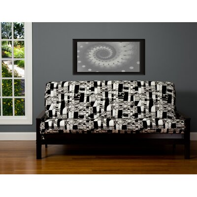 Jayla Box Cushion Futon Slipcover Size: 7 in. Full