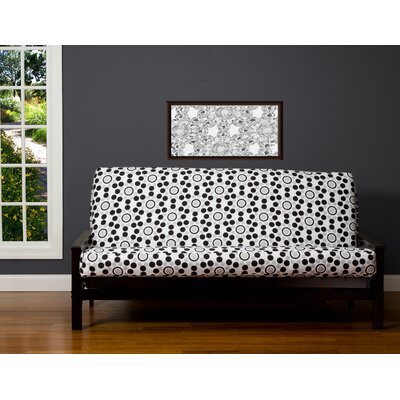Zipper Box Cushion Futon Slipcover Size: 6 in. Full