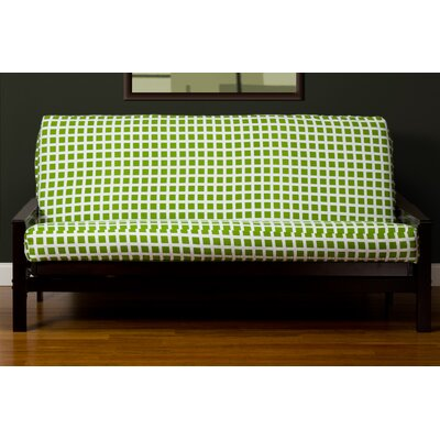 Box Cushion Futon Slipcover Size: 7 in. Full