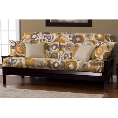 Arledge Maze Box Cushion Futon Slipcover Size: 7 in. Full