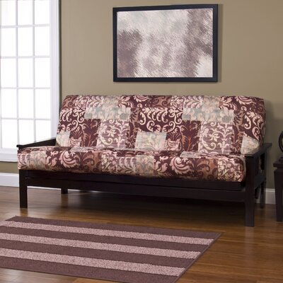 Lois Box Cushion Futon Slipcover Size: 6 in. Full