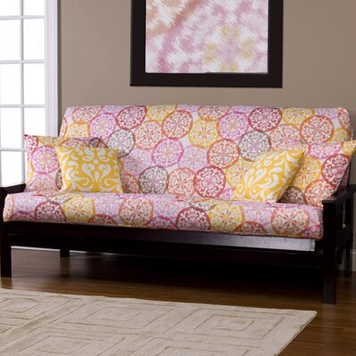 Appleton Zipper Box Cushion Futon Slipcover Size: 7 in. Full