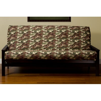 Washable Zipper Box Cushion Futon Slipcover Size: Queen