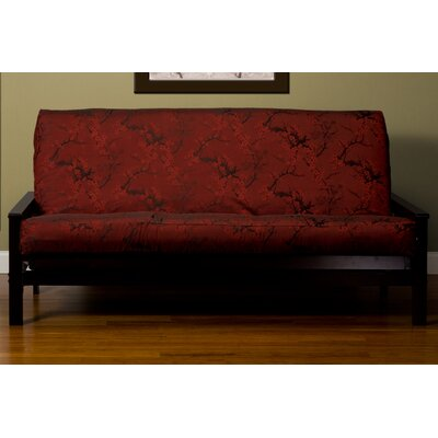 Bryant Cherry Blossom Box Cushion Futon Slipcover Size: 7 in. Full, Upholstery: Brick