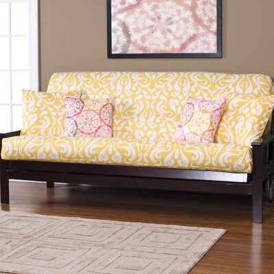 Appletree Zipper Box Cushion Futon Slipcover Size: Queen