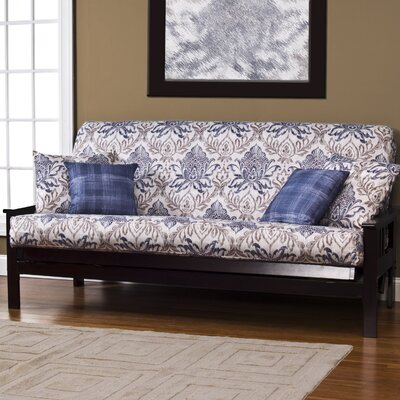 Arlberg Zipper Box Cushion Futon Slipcover Size: 6 in. Full